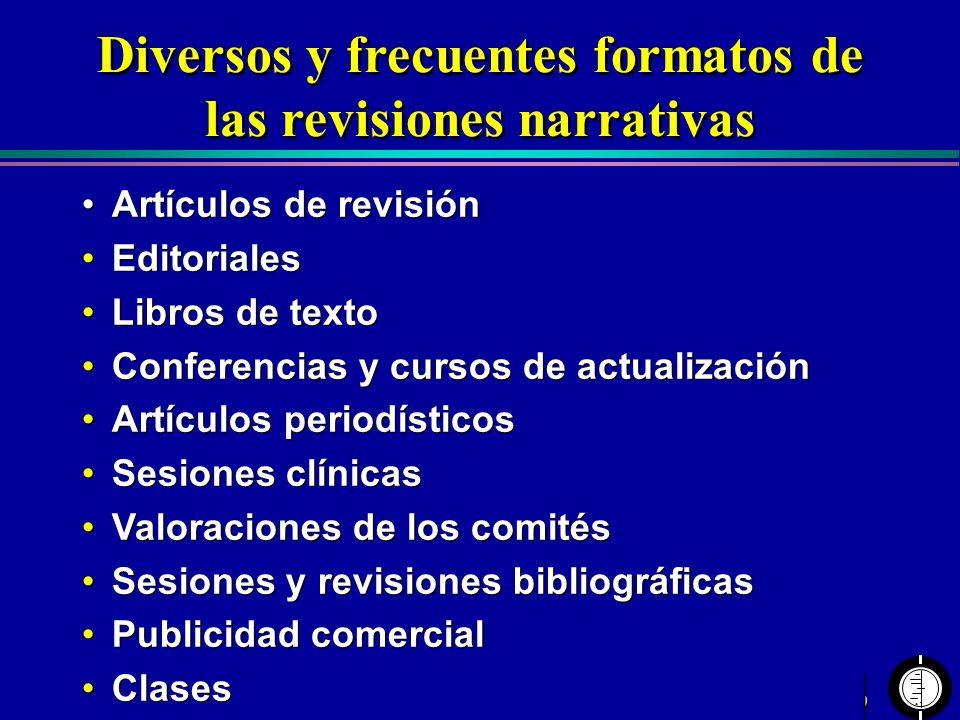 Centro Cochrane Iberoamericano Artículos de revisión Editoriales Libros de texto Conferencias y cursos de actualización Artículos periodísticos Sesion