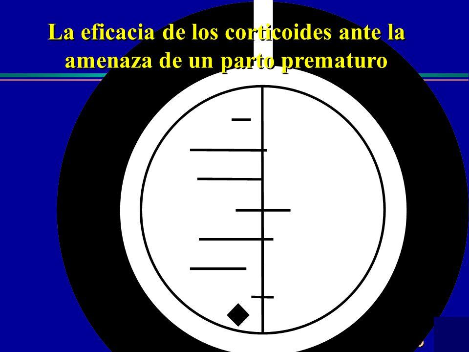 Centro Cochrane Iberoamericano La eficacia de los corticoides ante la amenaza de un parto prematuro