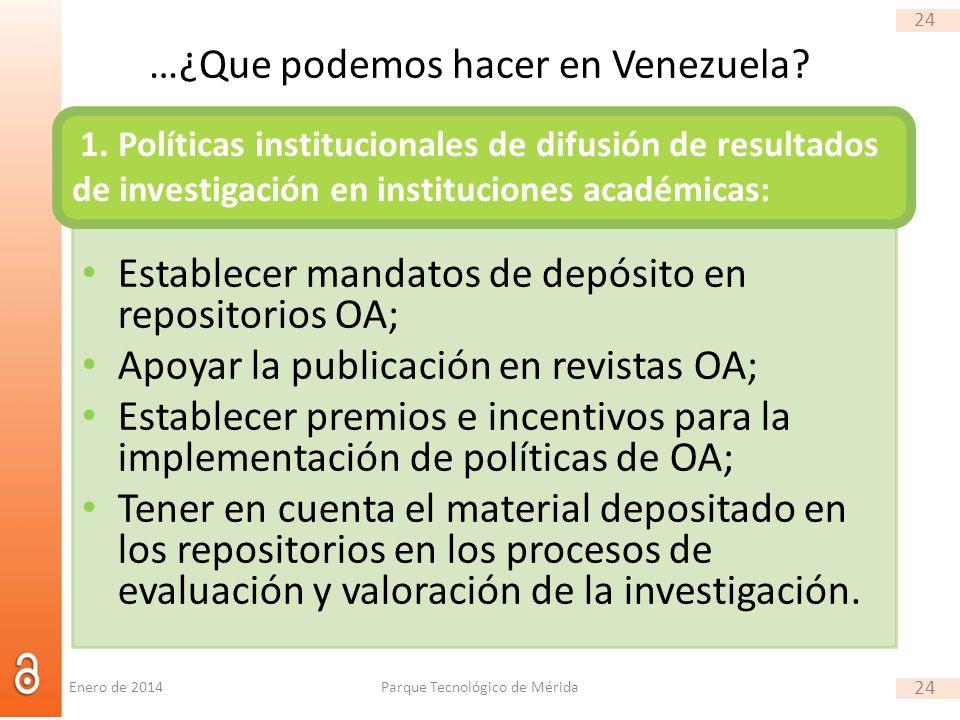 24 …¿Que podemos hacer en Venezuela.