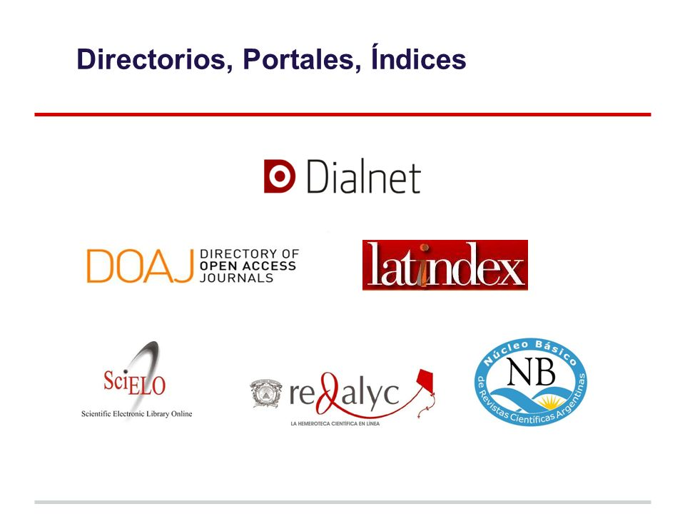 Directorios, Portales, Índices