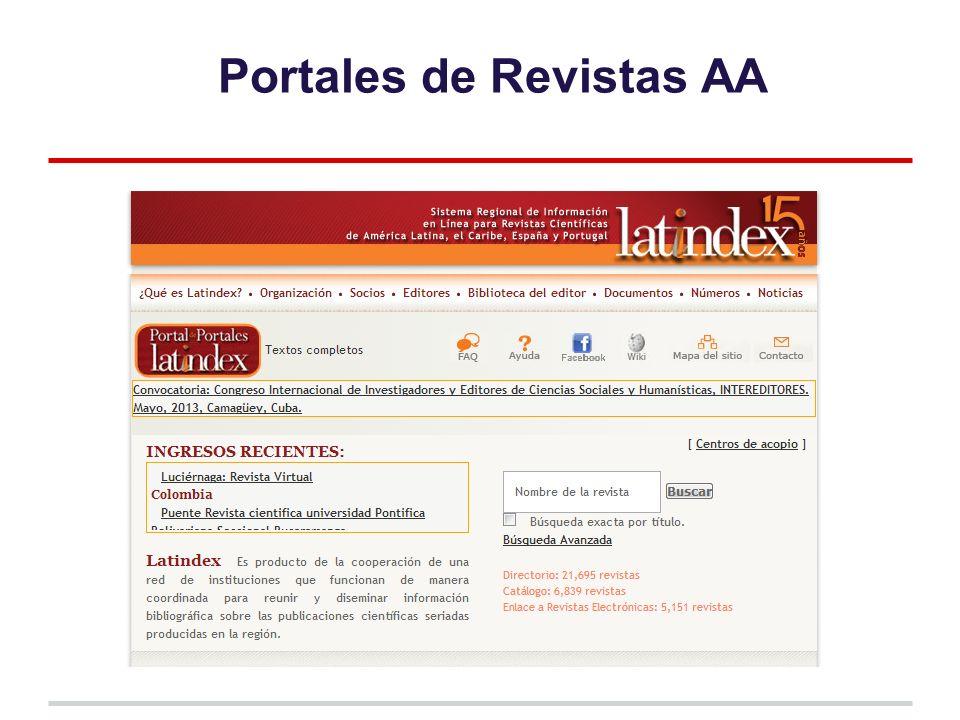 Portales de Revistas AA