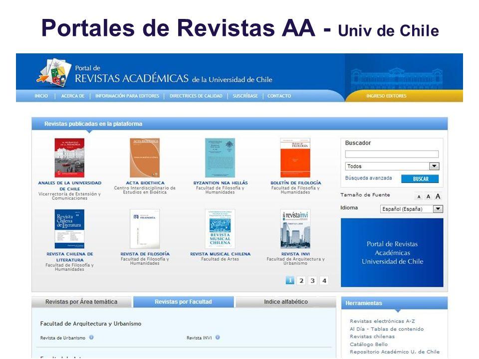 Portales de Revistas AA - Univ de Chile
