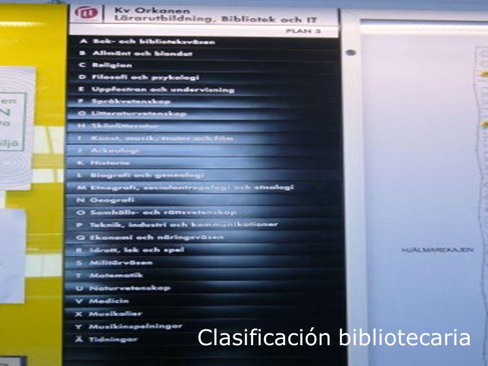 Biblioteca Universitaria Clasificación bibliotecaria
