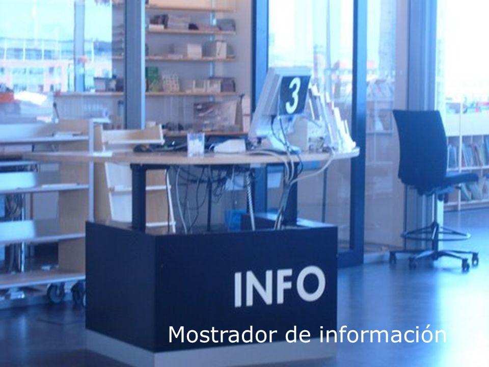 Biblioteca Universitaria Personal de apoyo informáticoMostrador de información