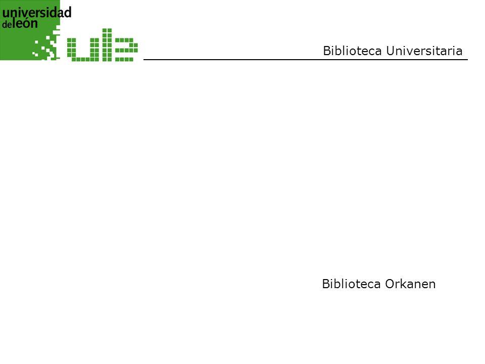 Biblioteca Universitaria Biblioteca Orkanen