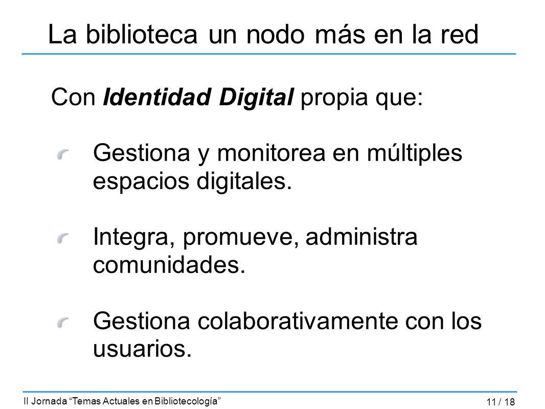 Con Identidad Digital propia que: Gestiona y monitorea en múltiples espacios digitales. Integra, promueve, administra comunidades. Gestiona colaborati
