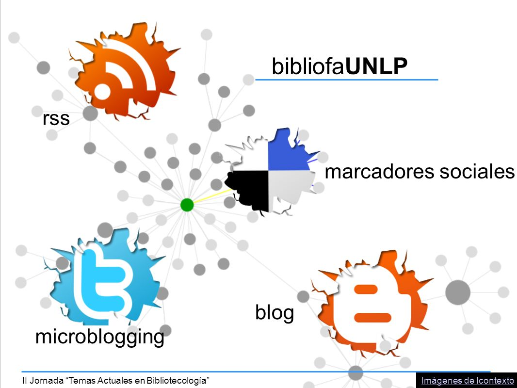 bibliofaUNLP rss marcadores sociales microblogging blog Imágenes de IcontextoII Jornada Temas Actuales en Bibliotecología