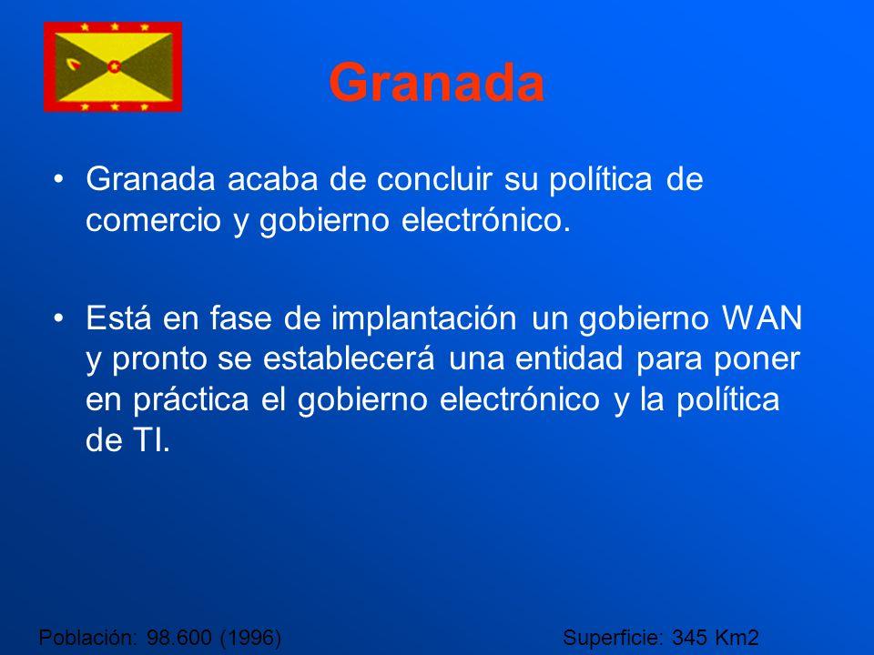Granada Granada acaba de concluir su política de comercio y gobierno electrónico. Está en fase de implantación un gobierno WAN y pronto se establecerá