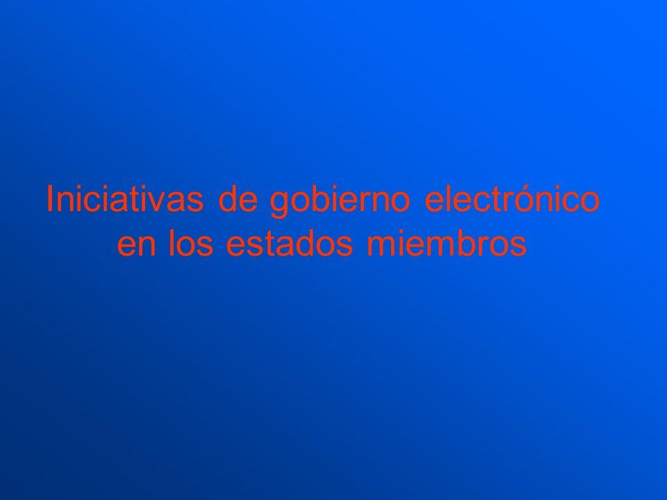Iniciativas de gobierno electrónico en los estados miembros
