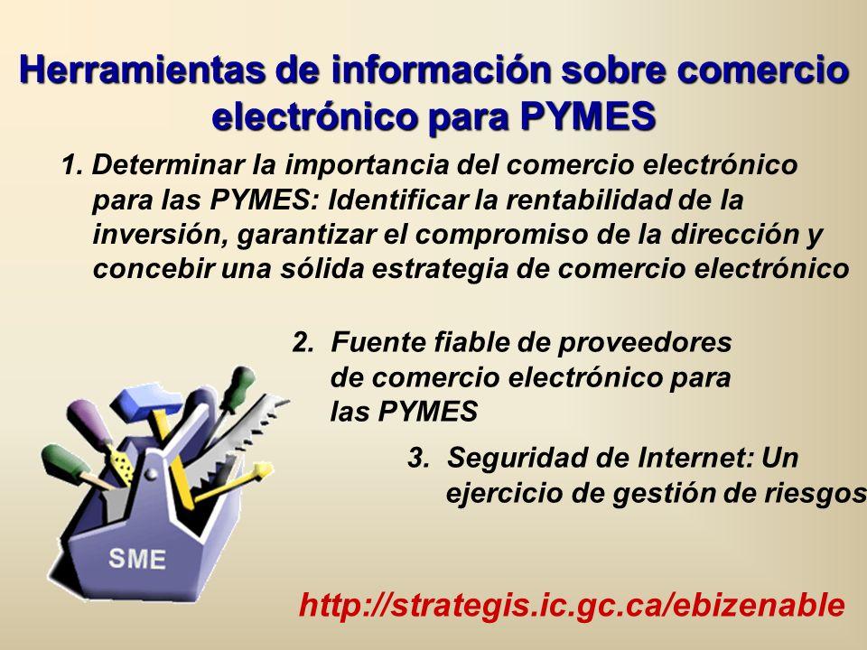 1. Determinar la importancia del comercio electrónico para las PYMES: Identificar la rentabilidad de la inversión, garantizar el compromiso de la dire
