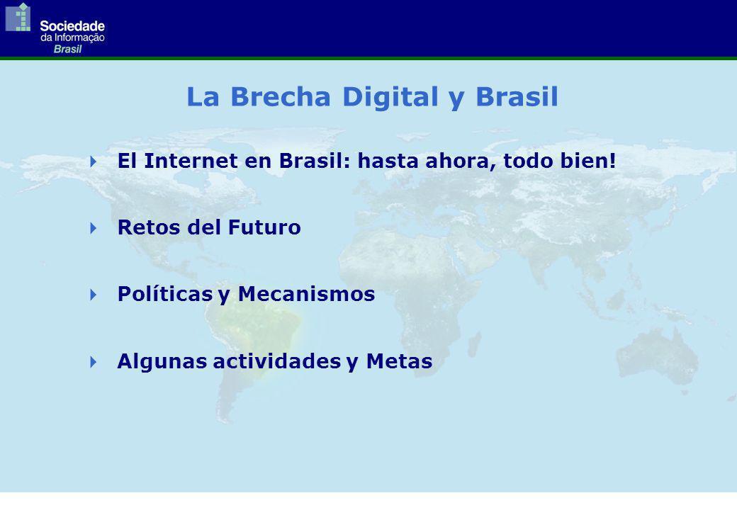 La Brecha Digital y Brasil El Internet en Brasil: hasta ahora, todo bien.