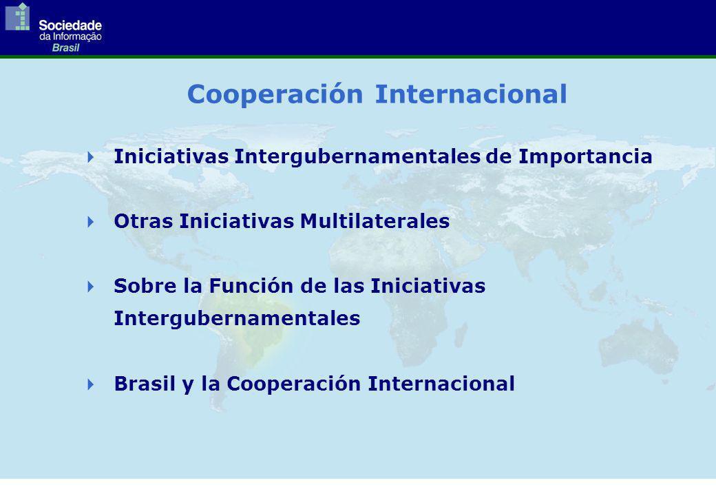 Cooperación Internacional Iniciativas Intergubernamentales de Importancia Otras Iniciativas Multilaterales Sobre la Función de las Iniciativas Intergubernamentales Brasil y la Cooperación Internacional