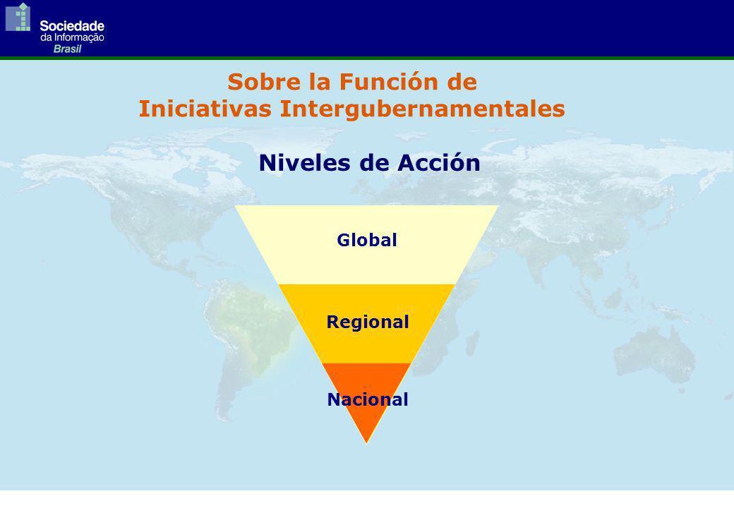 Sobre la Función de Iniciativas Intergubernamentales Global Regional Nacional Niveles de Acción