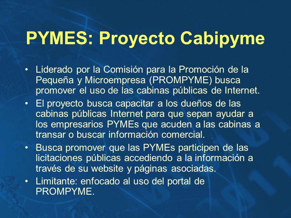 PYMES: Proyecto Cabipyme Liderado por la Comisión para la Promoción de la Pequeña y Microempresa (PROMPYME) busca promover el uso de las cabinas públi