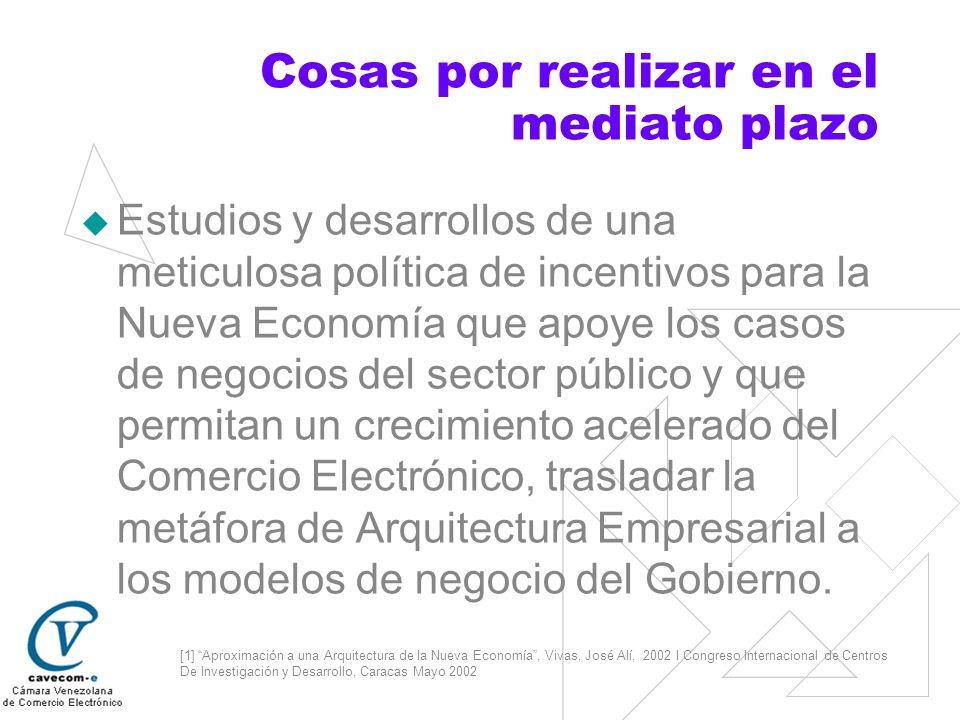 [1] Aproximación a una Arquitectura de la Nueva Economía, Vivas, José Alí, 2002 I Congreso Internacional de Centros De Investigación y Desarrollo, Car