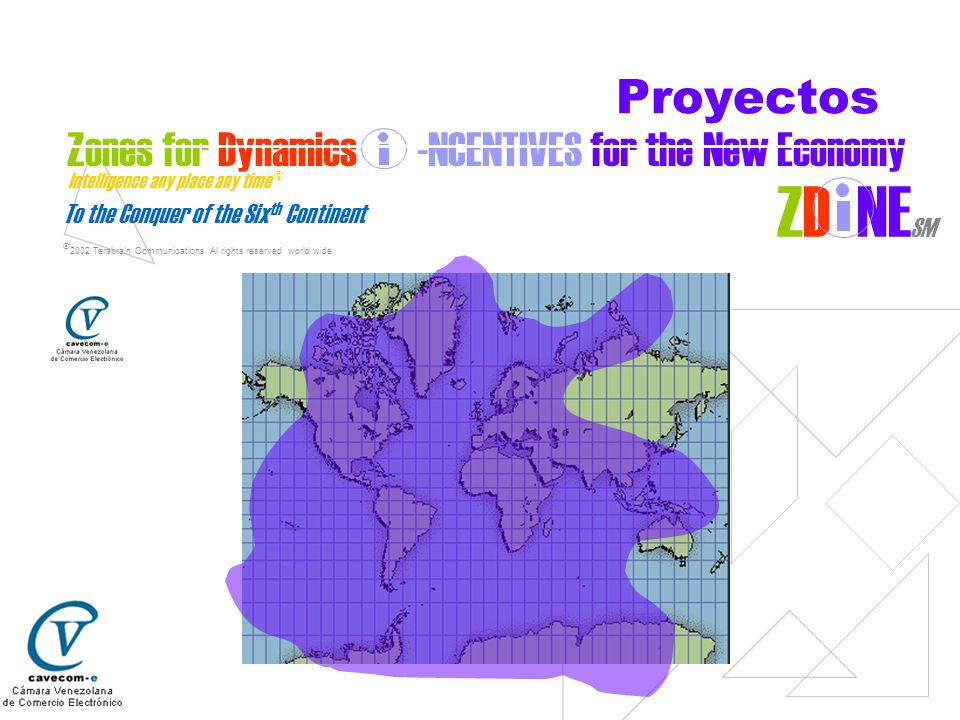 To the Conquer of the Six th Continent © 2002 Terabrain Communications. Al rights reserved world wide. Zones for Dynamics -NCENTIVES for the New Econo