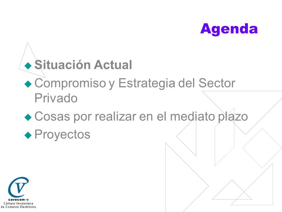 Agenda Situación Actual Compromiso y Estrategia del Sector Privado Cosas por realizar en el mediato plazo Proyectos