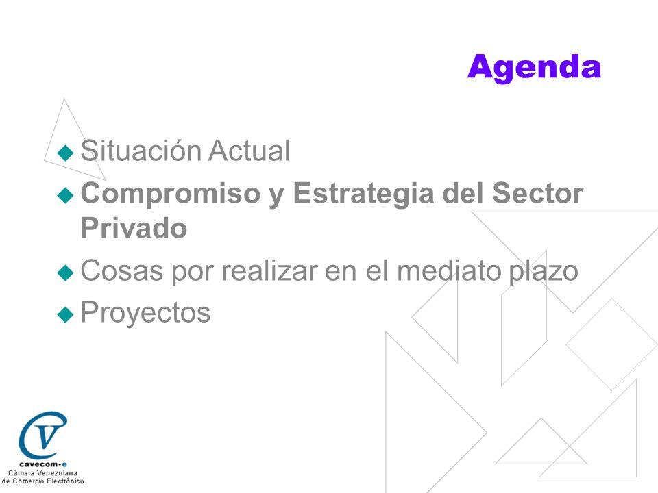 Compromiso y Estrategia del Sector Privado Situación Actual Compromiso y Estrategia del Sector Privado Cosas por realizar en el mediato plazo Proyectos
