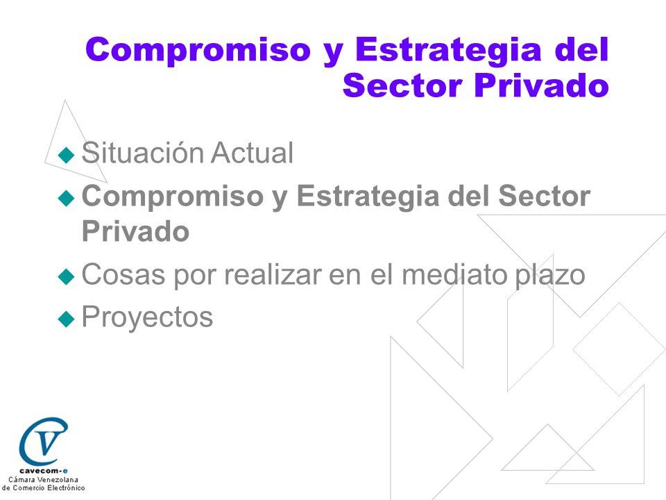 Compromiso y Estrategia del Sector Privado Situación Actual Compromiso y Estrategia del Sector Privado Cosas por realizar en el mediato plazo Proyecto