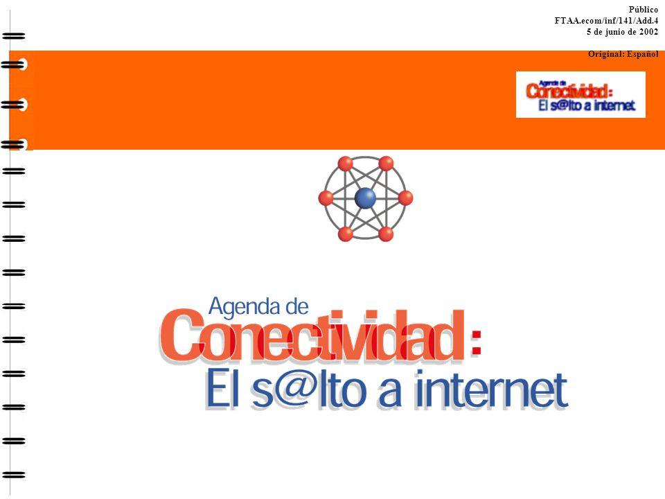 Público FTAA.ecom/inf/141/Add.4 5 de junio de 2002 Original: Español