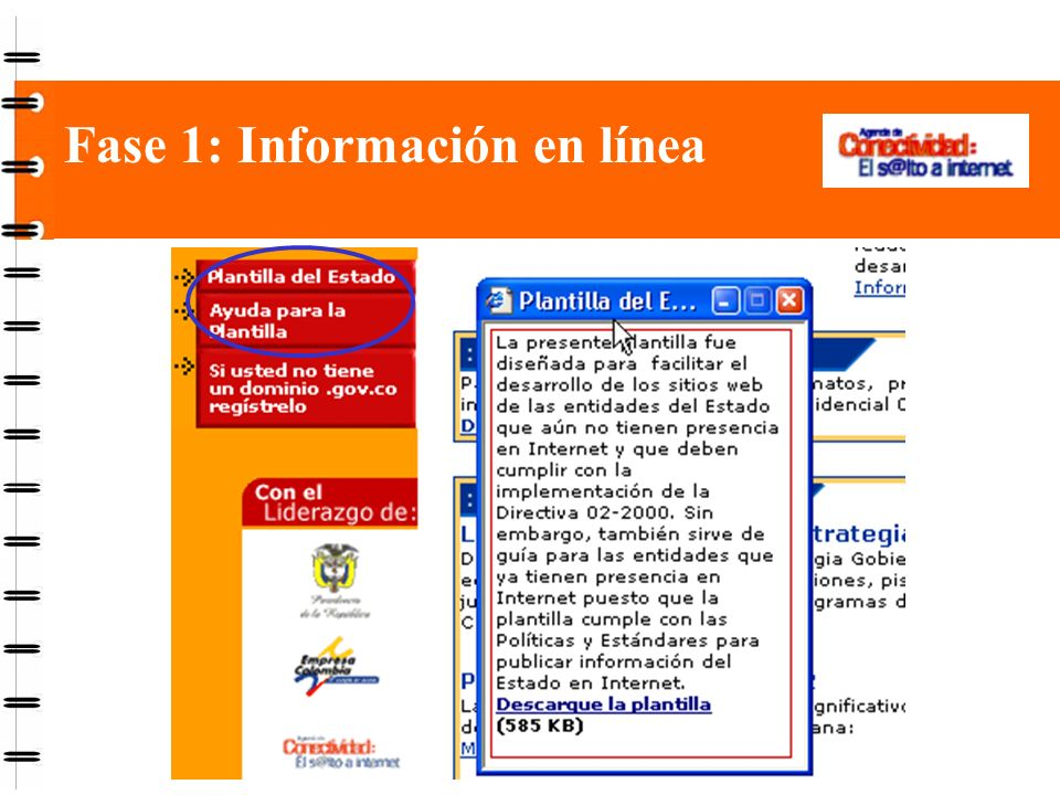 Fase 1: Información en línea