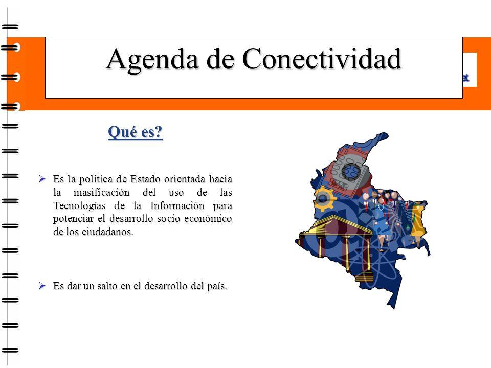 Agenda de Conectividad Qué es.