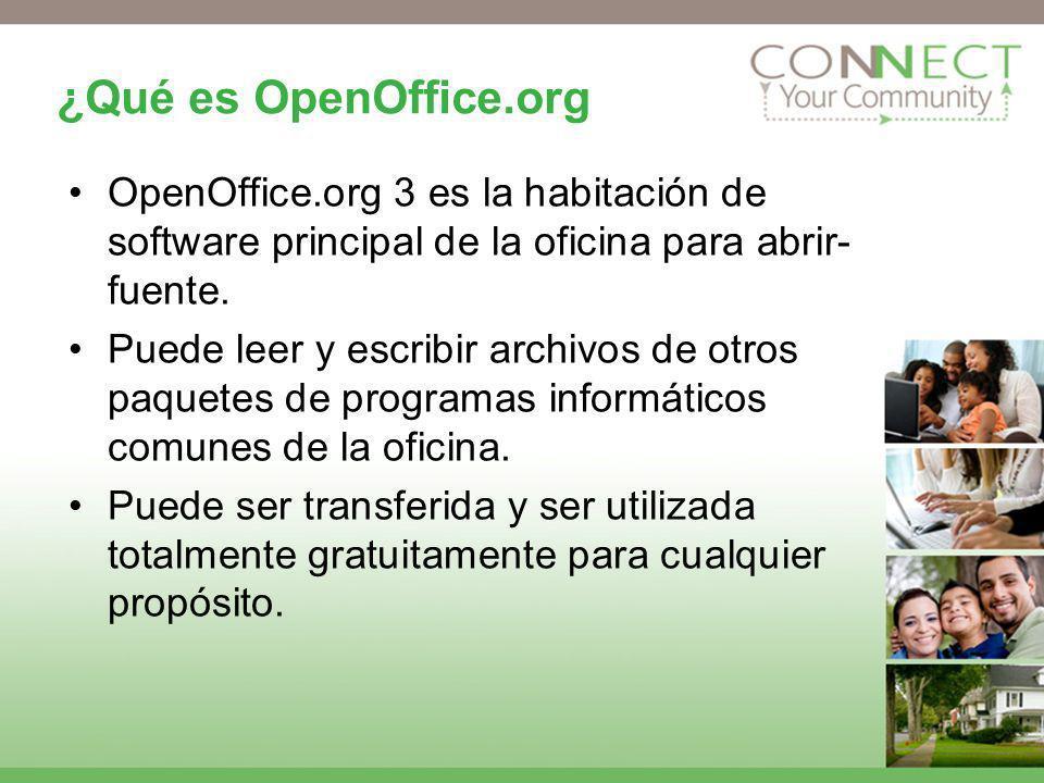 ¿Qué es OpenOffice.org OpenOffice.org 3 es la habitación de software principal de la oficina para abrir- fuente. Puede leer y escribir archivos de otr