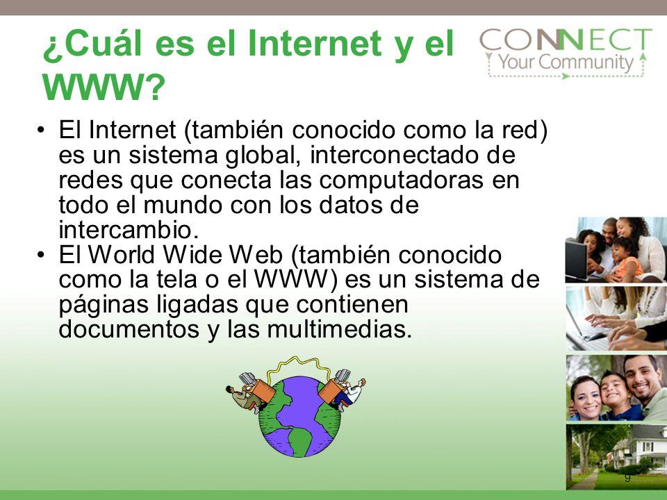 9 ¿Cuál es el Internet y el WWW.