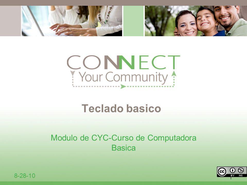 1 Teclado basico Modulo de CYC-Curso de Computadora Basica 8-28-10