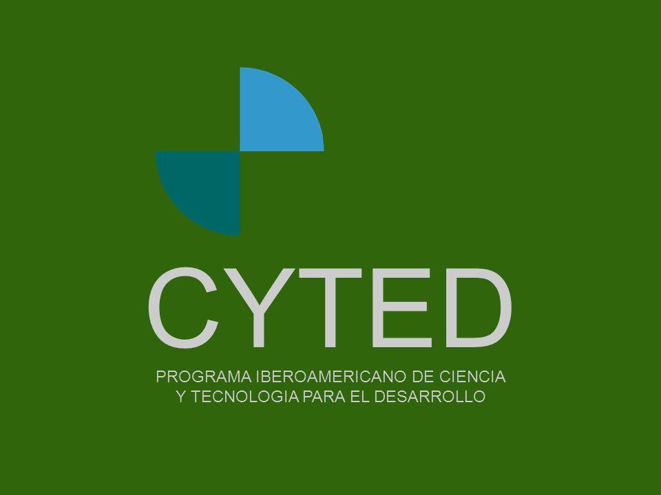 Portada PROGRAMA IBEROAMERICANO DE CIENCIA Y TECNOLOGIA PARA EL DESARROLLO CYTED