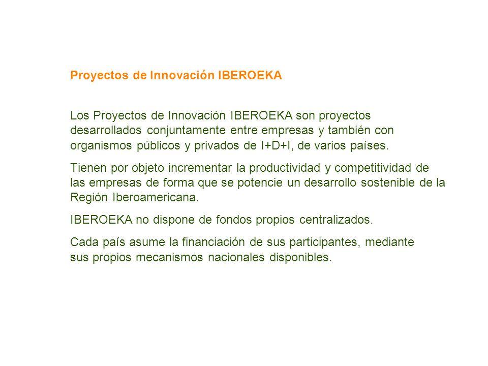 Proyectos de Innovación IBEROEKA Los Proyectos de Innovación IBEROEKA son proyectos desarrollados conjuntamente entre empresas y también con organismo