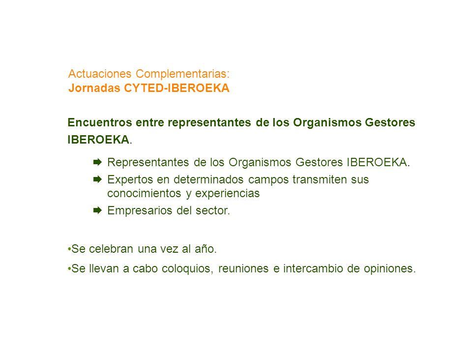 Encuentros entre representantes de los Organismos Gestores IBEROEKA. Representantes de los Organismos Gestores IBEROEKA. Expertos en determinados camp