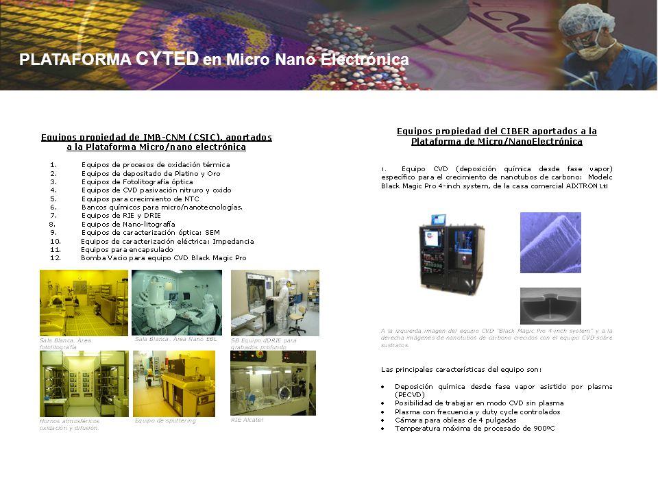 PLATAFORMA CYTED en Micro Nano Electrónica