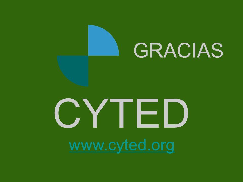 Portada CYTED www.cyted.org GRACIAS