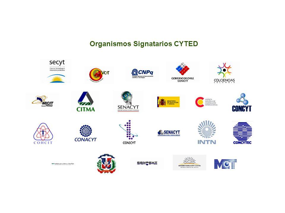 Organismos Signatarios CYTED