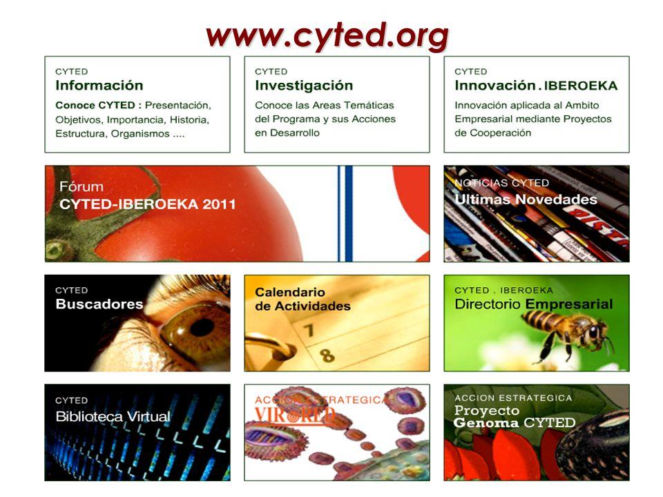 Acciones Estratégicas Estación Científica Coiba Proyecto Genoma-CYTED VirOred Red de Indicadores