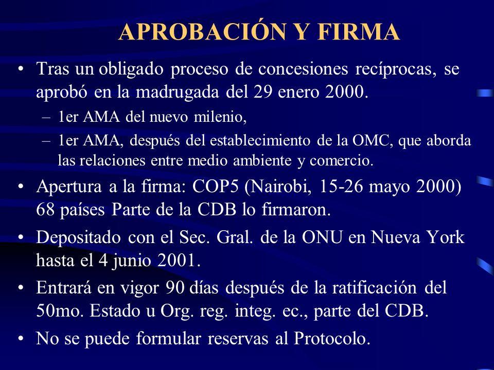 APROBACIÓN Y FIRMA Tras un obligado proceso de concesiones recíprocas, se aprobó en la madrugada del 29 enero 2000. –1er AMA del nuevo milenio, –1er A