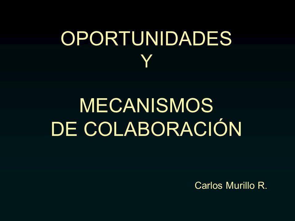 OPORTUNIDADES Y MECANISMOS DE COLABORACIÓN Carlos Murillo R.