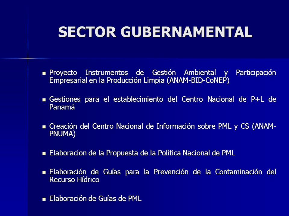 Firma de la Declaración Internacional de P+L Firma de la Declaración Internacional de P+L Premios Ambientales en P + L (4 versiones) Premios Ambientales en P + L (4 versiones) Consultorías de Incentivos Ambientales en P + L Consultorías de Incentivos Ambientales en P + L Asistencia técnica a 6 sectores productivos (USAID) Asistencia técnica a 6 sectores productivos (USAID) Proyectos de eficiencia energética y de implementación de P+L en 10 granjas porcinas de la Región del Darién.