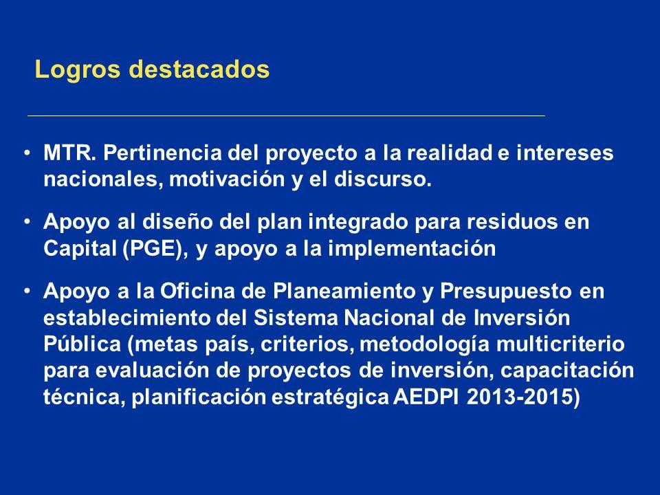 Complejidades PEI es ambicioso, trabaja en procesos de formulación de políticas en «áreas de inteligencia del de desarrollo dominante».
