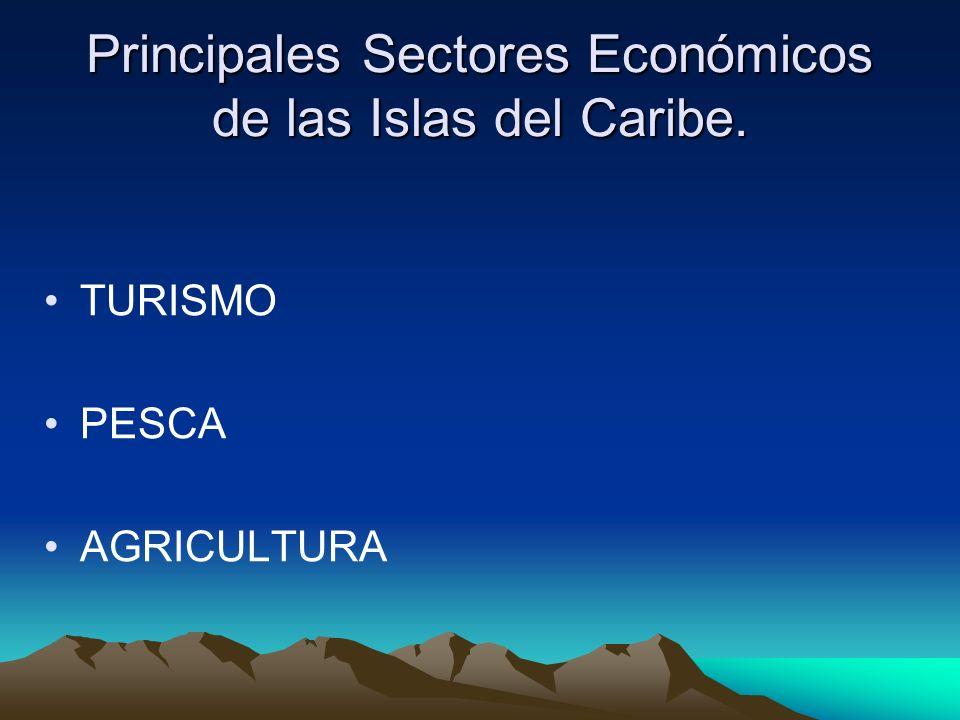 Principales Sectores Económicos de las Islas del Caribe. TURISMO PESCA AGRICULTURA