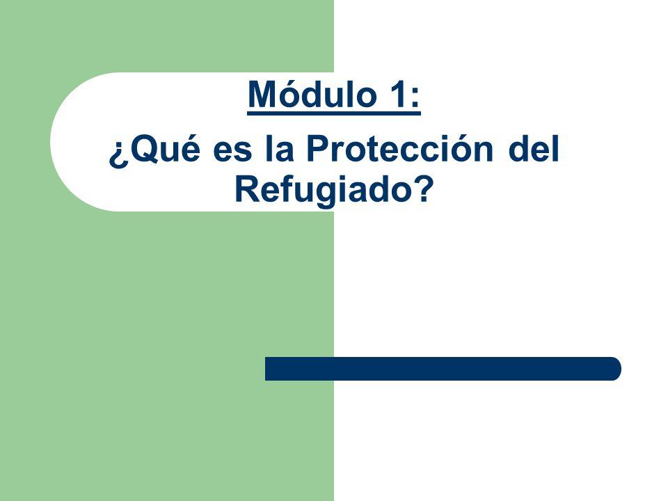 Módulo 1: ¿Qué es la Protección del Refugiado?