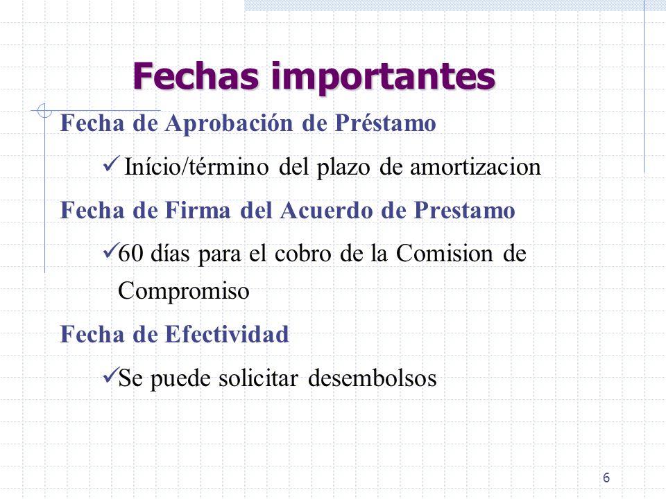 5 ENMIENDAS Se requieren enmiendas al acuerdo para: Prórroga de la fecha de cierre Cambio en la descripción del proyecto Modificación de los porcentaj