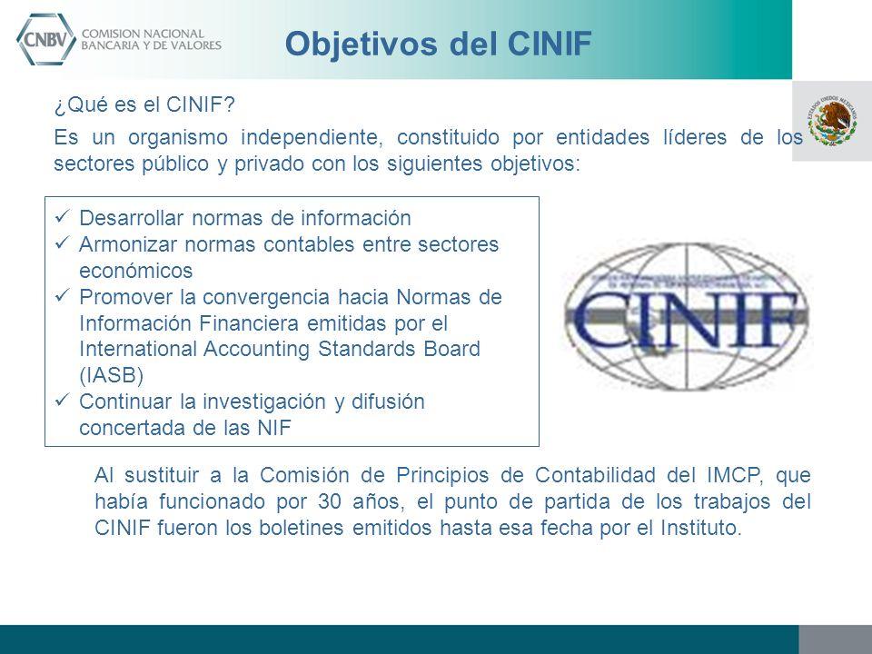 Objetivos del CINIF ¿Qué es el CINIF? Es un organismo independiente, constituido por entidades líderes de los sectores público y privado con los sigui