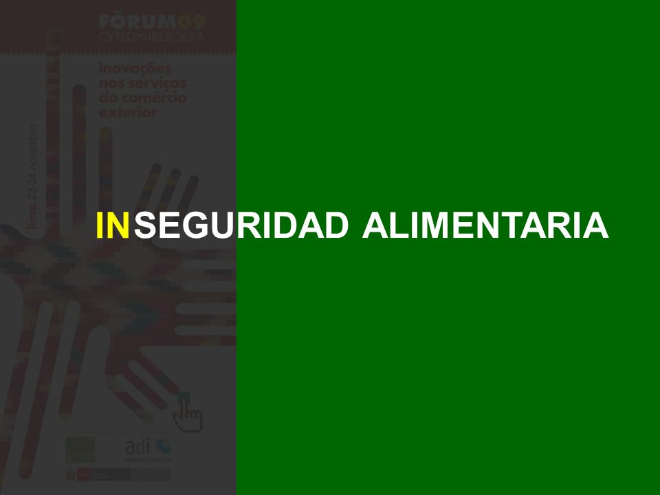 SEGURIDAD ALIMENTARIA IN