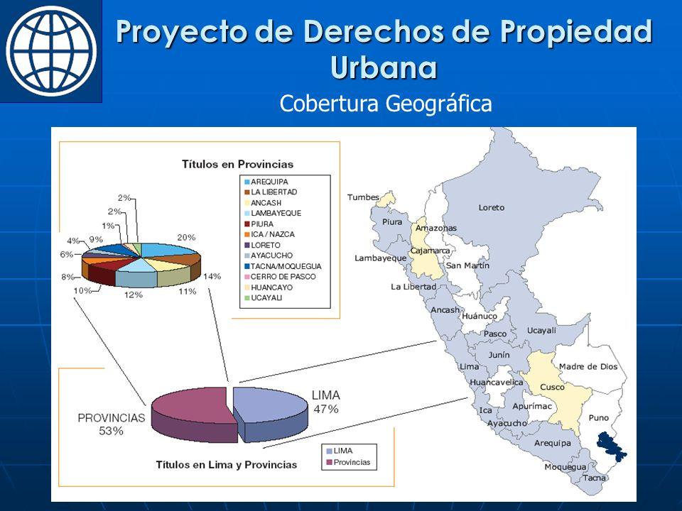 Cobertura Geográfica Proyecto de Derechos de Propiedad Urbana