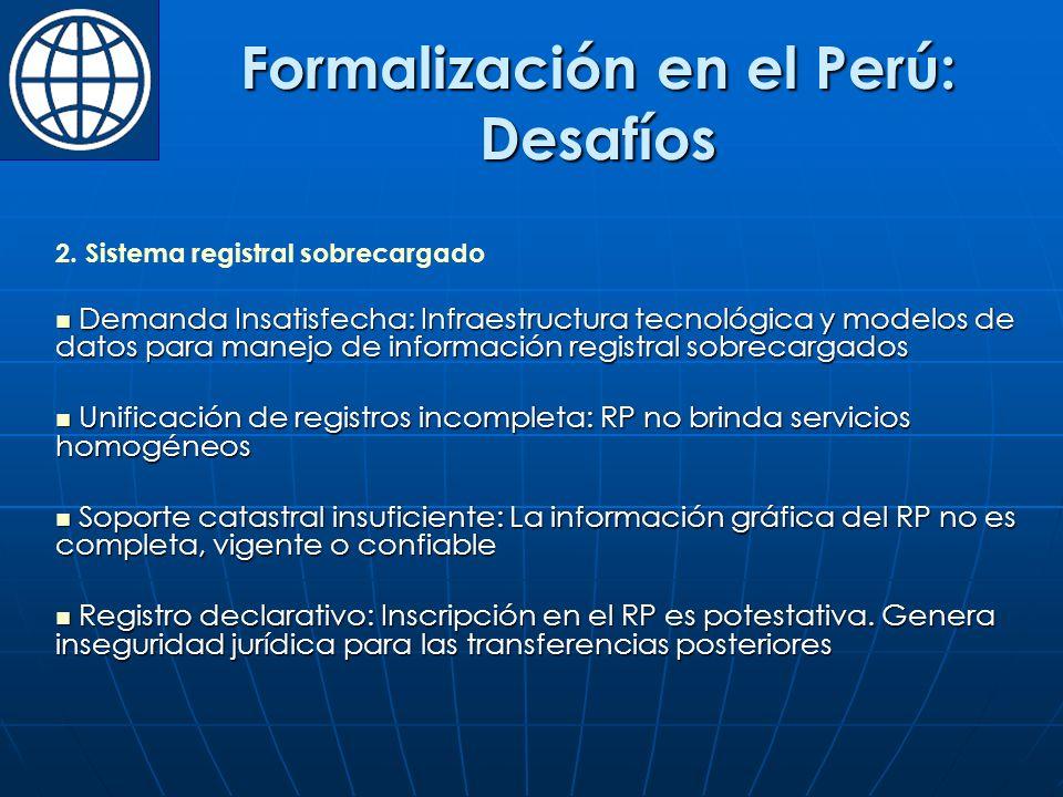 Formalización en el Perú: Desafíos 2.