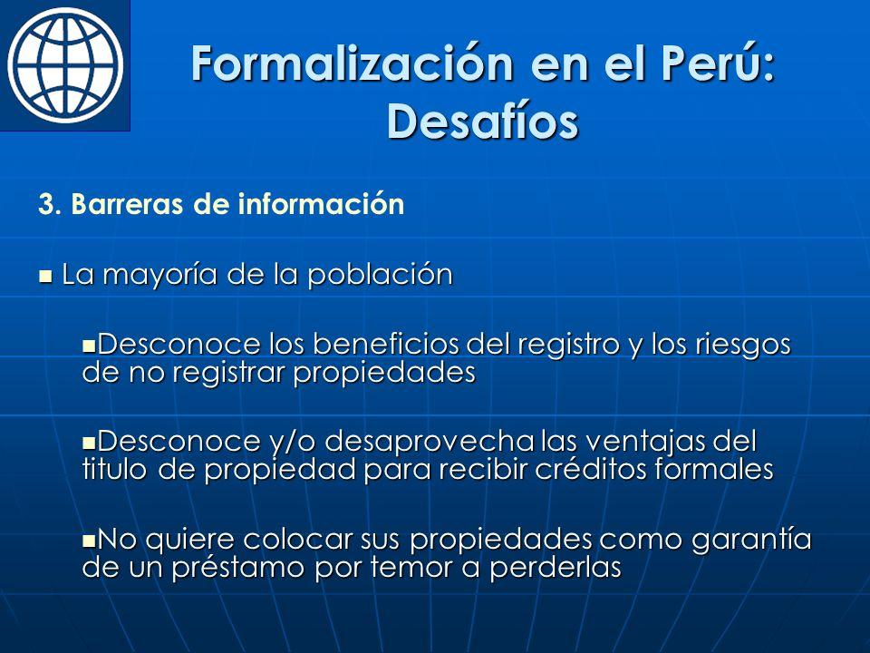 Formalización en el Perú: Desafíos 3.