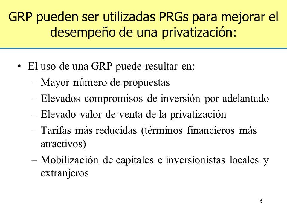 7 Las GRP pueden ser utilizadas para una serie de proyectos más pequeños Banco Mundial Intermediario ABZ Proyectos Gobierno Acuerdo Contractual de la Garantía/ Indemnización C Garantías de riesgo parcial Obligaciones del gobierno