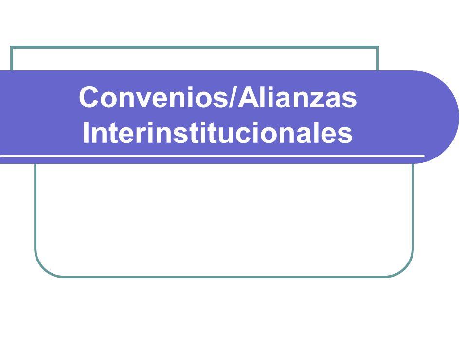 Convenios/Alianzas Interinstitucionales
